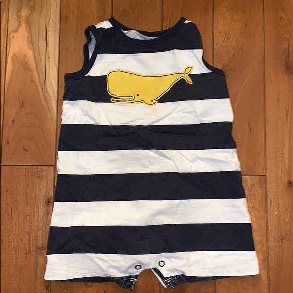Carter's Other - EUC Carter's Striped Whale Onesie